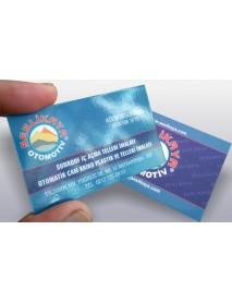 Çift taraflı parlak selefonlu kartvizit