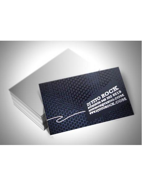 Tek yönlü kabartma laklı kartvizit
