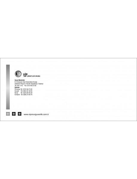 500 Adet Tek Renk 10.5x24 Diplomat Zarf